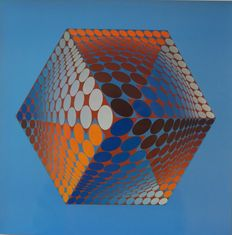 Victor Vasarely -  Hexagone TUPA-3