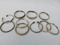 Collection of 10 decorated bracelets from the Hill tribes – Golden Triangle, South East Asia – 20th century