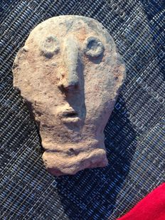 Celtic Clay Head of Noble or Captive - 10.16 cm
