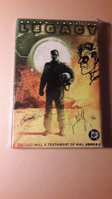 Green Lantern Legacy - The last will and testament of Hal Jordan - Signed by Joe Kelly and Brent Anderson (also with sketch) - hc with dust jacket - (2002)