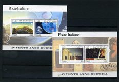 Italian Republic – Collection of stamps from 2000 to 2004