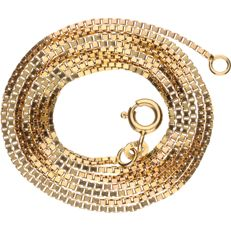 Yellow gold Venetian link necklace in 14 kt, length: 60.3 cm