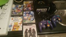 Game cube with 6 games and 2 controllers