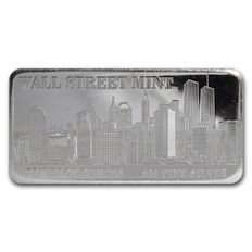 USA - 10 oz 999 Silver bars - New York Wallstreet - 2002