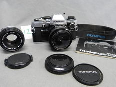 Olympus OM-10, with accessories