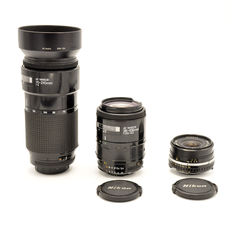 3 Nikon lenses in used condition