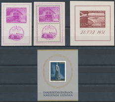 Yugoslavia 1949/1961 – Selection of blocks, stamps and series
