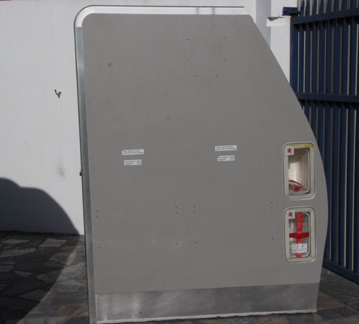 Suit and emergency cabinet of TAP's A319 aeroplane