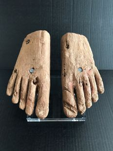 Ancient Egyptian Wooden Feet - 8 1/4  Inches