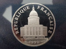 "France - 100 francs ""Pantheon"" 1992 BE silver"