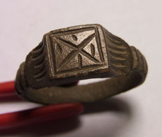 "Roman solid legionary ring ""X"" - 208mm"
