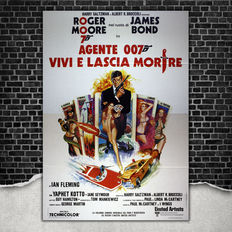 Original Film Poster  007 James Bond Live and Let Die - Guy Hamilton - Size: 140x200 CM