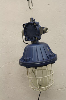 """Polam Wilkasy - Large """"Bully"""" cage lamp - industrial / factory light"""