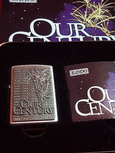 "Zippo limited millennium edition ""Our Century 1901-2000"". Collectible of Year 1999. NEW with Original Box"