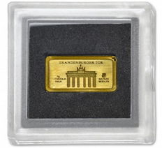 Germany - 1 gram 999.9 fine gold / gold bar - Brandenburg Gate