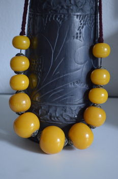 Large Baltic amber necklace, 164 g