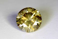Diamant - 1.21 ct  Fancy Greenish Yellow - Zonder Reserve Prijs