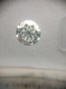 1.00 ct Round cut diamond D IF