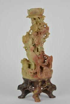 Fine sculpture in soapstone - China - first half of 20th century.