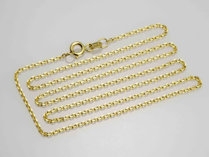 18k Yellow Gold Necklace. Chain - 45 cm. No reserve price.