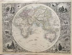 World; John Tallis - Eastern Hemisphere - 1851