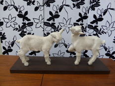 The lambs signed VInsare, Sèvres France, Art Deco