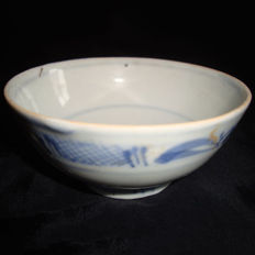 Chinese blue and white porcelain wine cup - 95 mm