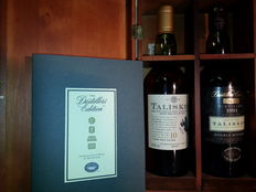 2 bottles - Talisker 10 years old and Distiller's Edition 1991 Wooden Box