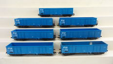 Liliput H0 - 24445 - Set of 7 freight carriages of the NS