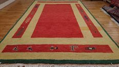 Splendid Indo Gabbeh rug – hand-knotted – 240 x 170 cm – Beginning of the century – MINT CONDITION – BIDS START AT €1!!!