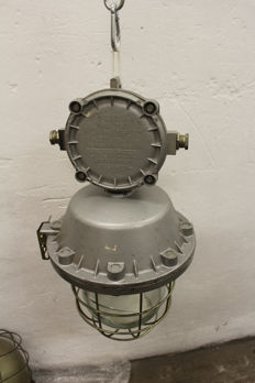 "Polam Wilkasy  –  XLarge ""Bully"" cage lamps – industrial / factory lights"