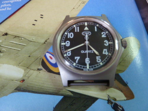 cwc g 10 british - very rare fat boy military wrist watch 1985.