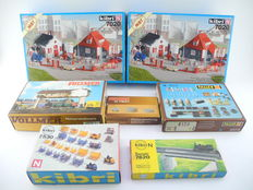 Kibri/Vollmer/Faller N - 7020/7620/7603/2573/7530/7841 - 7 different kits to decorate the model track with a.o. signal box [528]