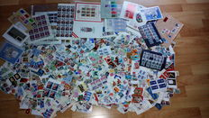 World - stamp items with approx. 16,000 pieces - 1000g net