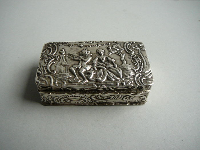 Silver jewellery box, Netherlands, 19th century