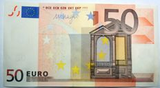 European Union - Netherlands - 50 Euros 2002 - Draghi - error, no hologram