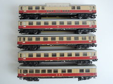 Märklin H0 - 5 TEE carriages of the DB, including 4 with lighting