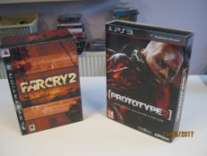2 Special Collectors Editions forr the ps3. Prototype 2 and Far cry 2