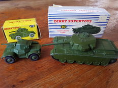 Dinky (Super)Toys - Scale 1/48 - Centurion Tank No.651 and Armoured Car No.670