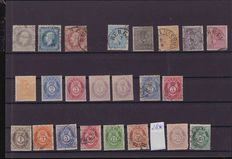 Norway 1868/1920 –batch on pin boards