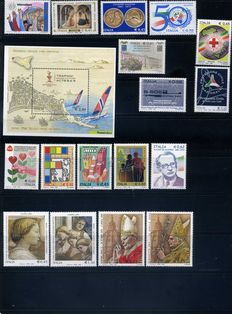 Italian Republic – Collection of stamps from 2005 to 2009