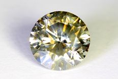 Diamond – 1.52 ct, Fancy Greyish Yellow - No reserve