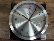 Original Mercedes-Benz wall clock with thermometer