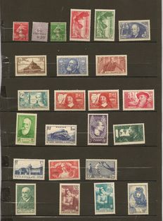 France 1927 to 1938 – Collection of stamps.