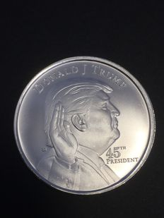 USA - 1 oz 999 silver - Donald Trump 45th U.S. President - White House