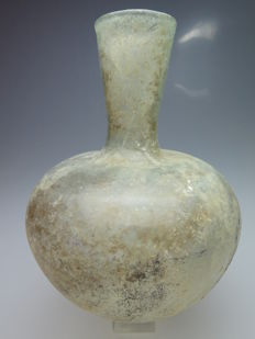 Roman glass bottle - 11.5 cm