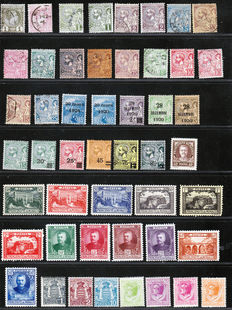 Monaco 1885/1928 – Collection of 83  stamps – Between Yvert no. 1 and 113 and Air Mail no. 1