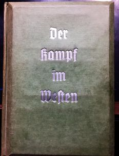 Der Kampf im Westen, stereogram album, complete with glasses and all images from estate!