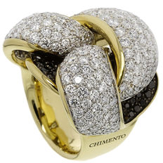 Chimento - Gold women's ring with diamonds