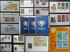International Year of the Child 1979 - Collection of covers in 3 albums